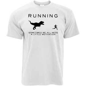 RUNNING MOTIVATION TREX DINOSAUR ADULT UNISEX TEE